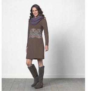 Sahalie Little Best Print Dress in Brown